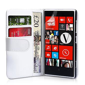 Yousave Accessories Nokia Lumia 720 Leather-Effect Wallet Case - White