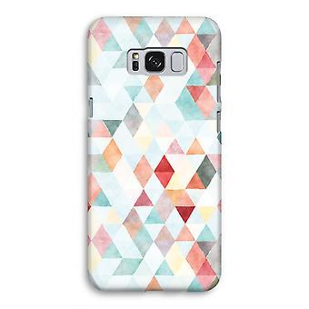 Samsung Galaxy S8 Full ut fallet - färgade trianglar pastell