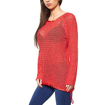 B.C.. best connections by heine sweater women's Chunky knit sweater Red