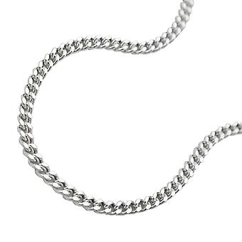 Thin curb chain silver 925 necklace 45cm