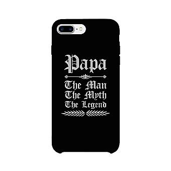Vintage Gothic Papa Case Black Phone Cover For Funny Grandpa Gifts