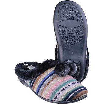 Mirak Womens/Ladies Chabilis Mule Open Back Textile Comfort Slippers