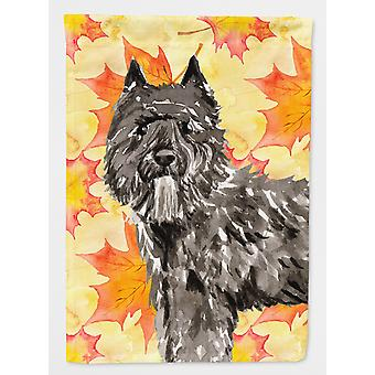 Fall Leaves Bouvier des Flandres Flag Canvas House Size