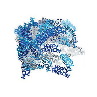 Anniversaire Glitz bleu - joyeux anniversaire Confetti