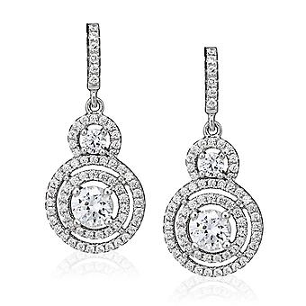 Orphelia Silver 925 Earring Solitaire Pave  ZO-5228