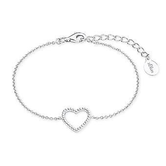 s.Oliver juvel damer armbånd sølv kubikk zirconia så rent hjerte 2017255