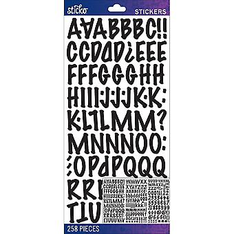 Sticko Alphabet Stickers-Black Marker Medium