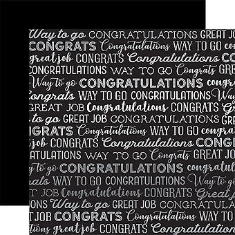 Carta Bella Congrats Foiled Double-Sided Cardstock 12