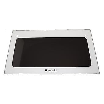 Hotpoint Oven door top glass pw+ brackets Spares