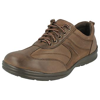 Mens Freestep Casual Leather Lace Up Shoes Walter