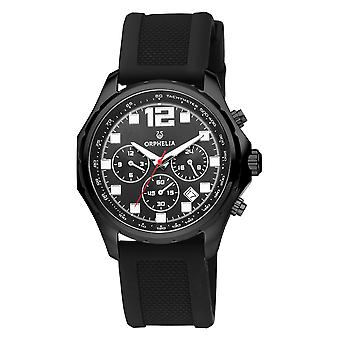 ORPHELIA Men Dual Time Watch Black Plastic OR86701