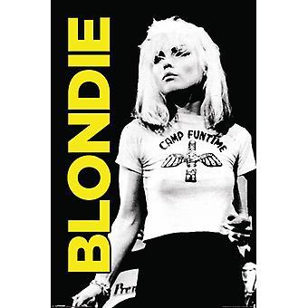 Blondie - Camp Funtime gule plakat plakatutskrift