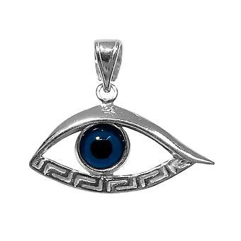 قلادة مياندروس العين الرئيسية اليونانية فضة