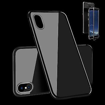 Para Apple iPhone XS MAX 6.5 pulgadas imán / metal / vidrio cubierta de la caja del caso parachoques completo negro nuevo