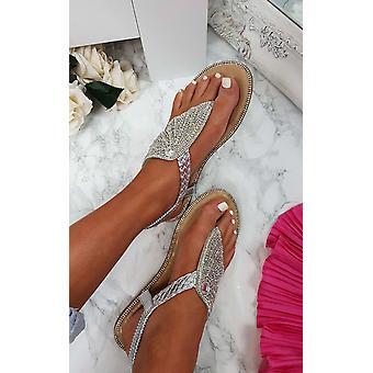 IKRUSH dame Orlagh Diamante forskønnet sandaler