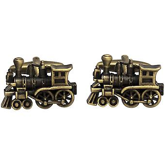 Zennor Train Cufflinks - Bronze