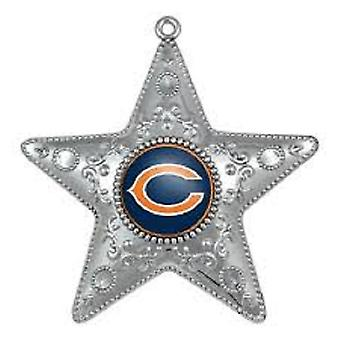 Chicago Bears NFL sport verzamelaars serie Silver Star Ornament