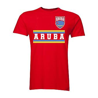 Aruba Core fodbold land T-Shirt (rød)