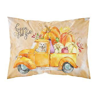 Fall Harvest Golden Retriever Fabric Standard Pillowcase