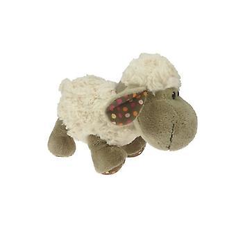Plush sheep portrait soft curly 20 cm