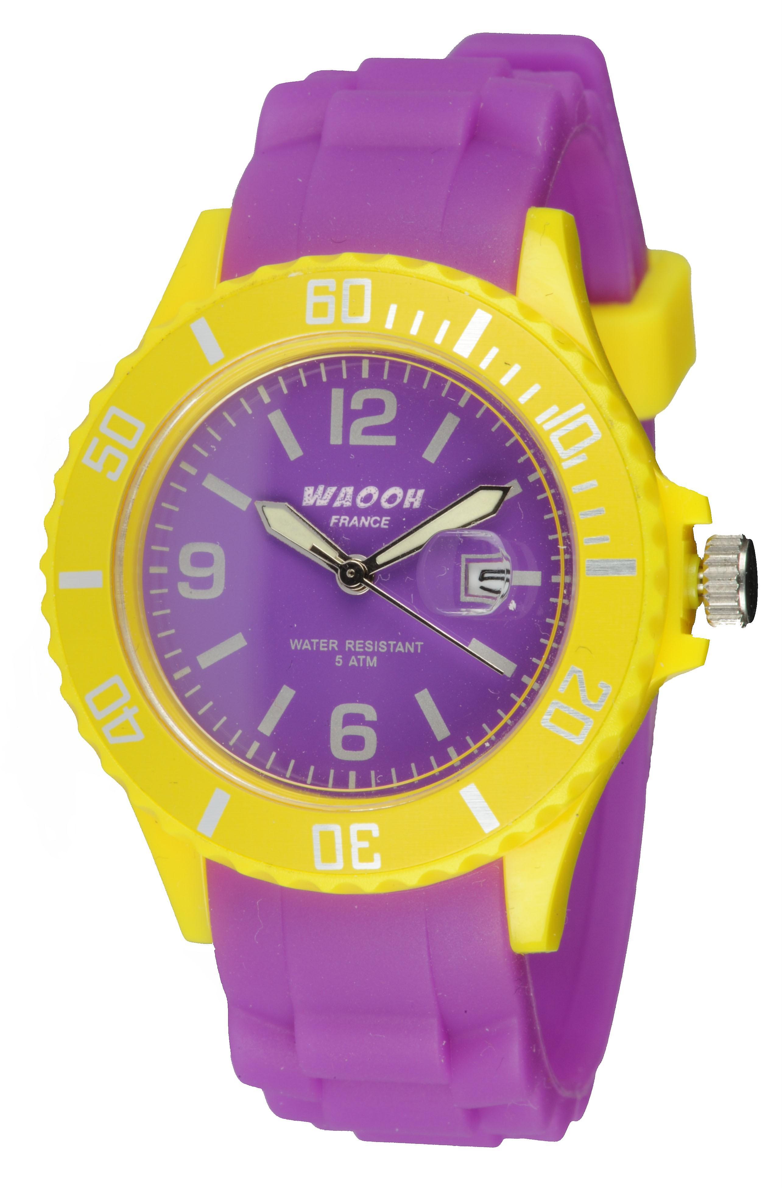 Waooh - Watch Monaco34 - bicolor & geel