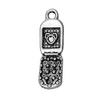 Pakiet 6 x ZX12970 urok/wisiorek telefon komórkowy antyczne srebro tybetańskie 27mm