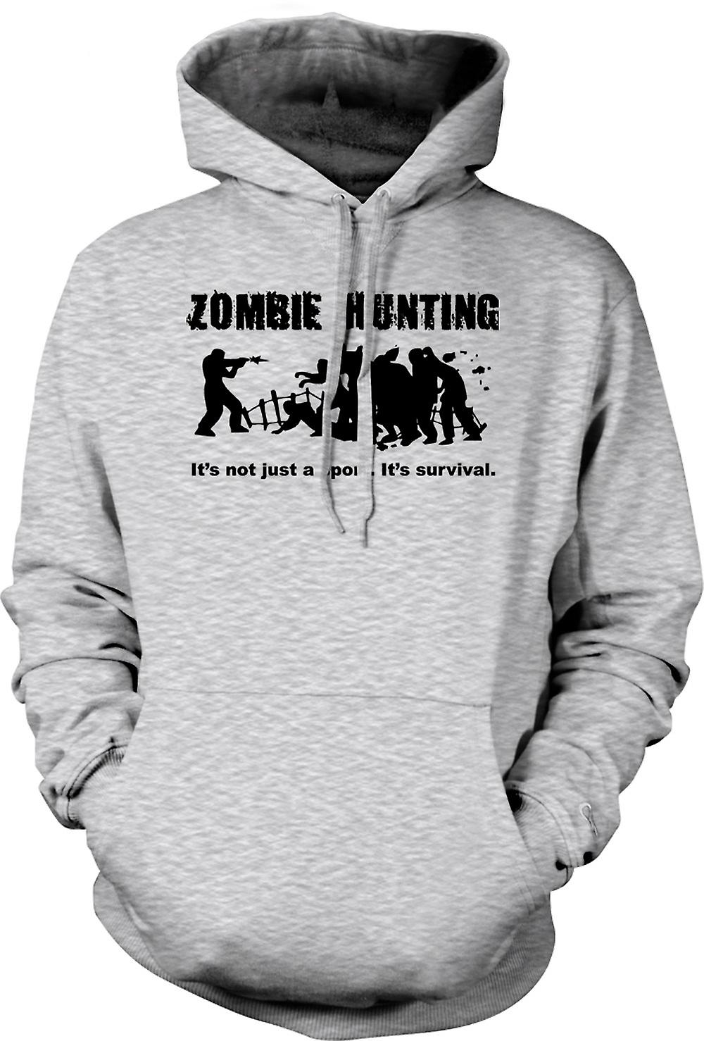 Mens Hoodie - Zombie Hunting Sport - Comedy Horror