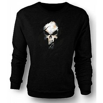 Mens Sweatshirt Punisher - dratt effekt