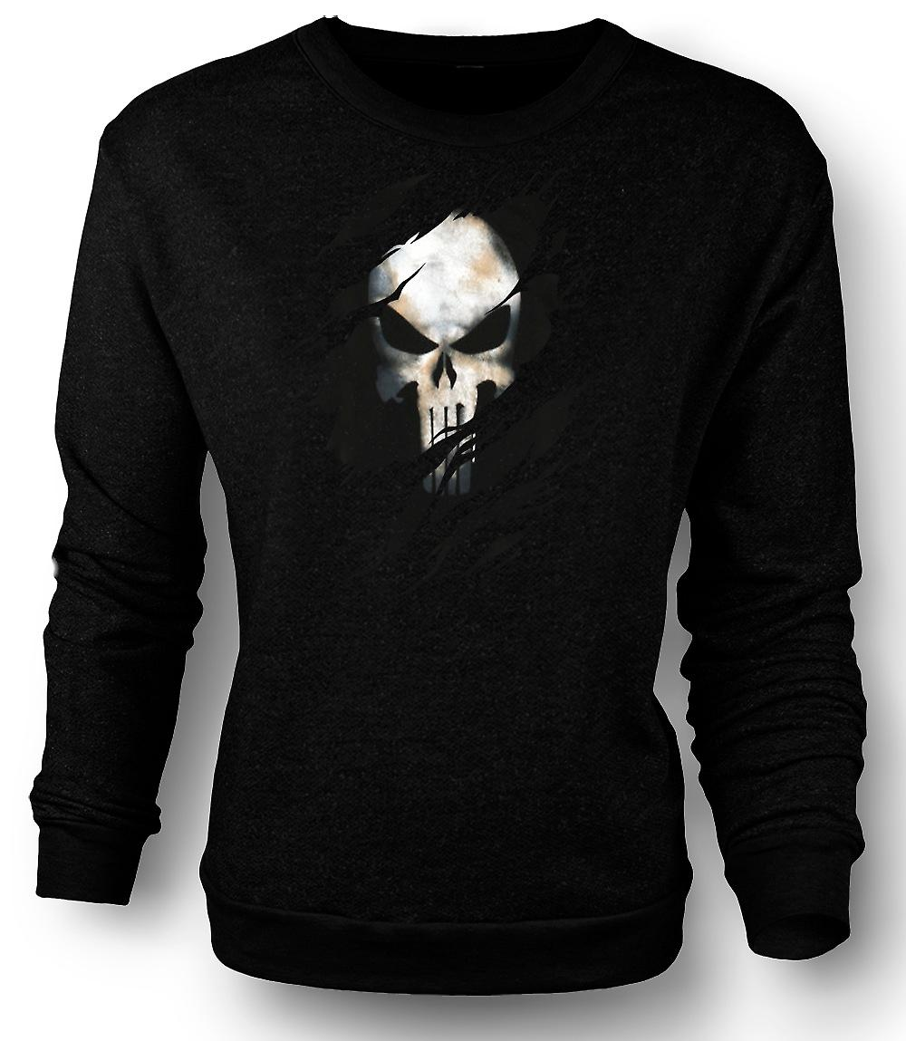 Mens Sweatshirt The Punisher - Ripped Effect