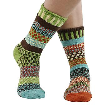 September Sun recycled cotton multicolour odd-socks | By Solmate