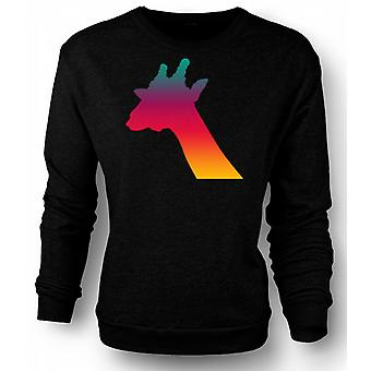Womens Sweatshirt Rainbow Giraffe Psychedelic Design