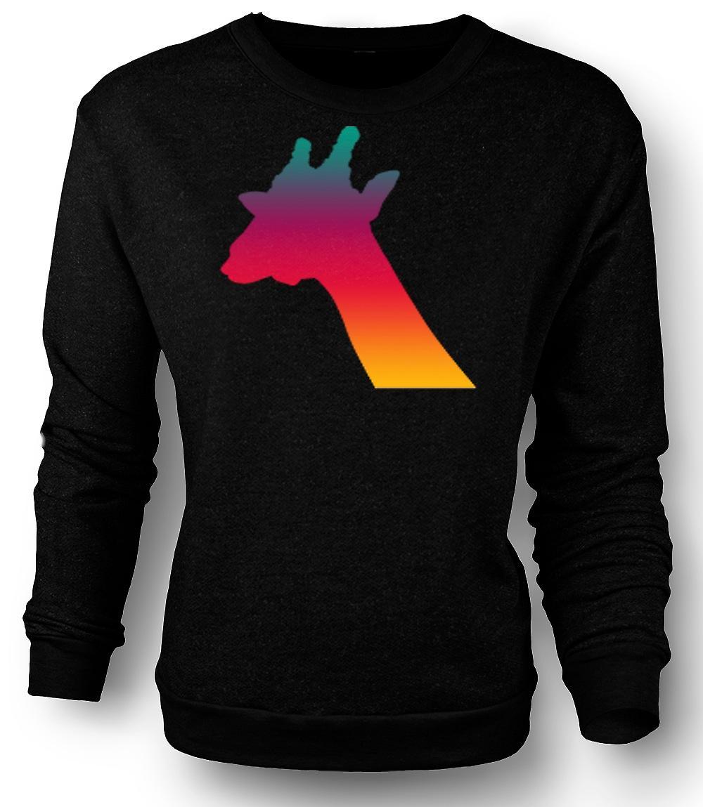 Mens Felpa Rainbow giraffa Design psichedelico