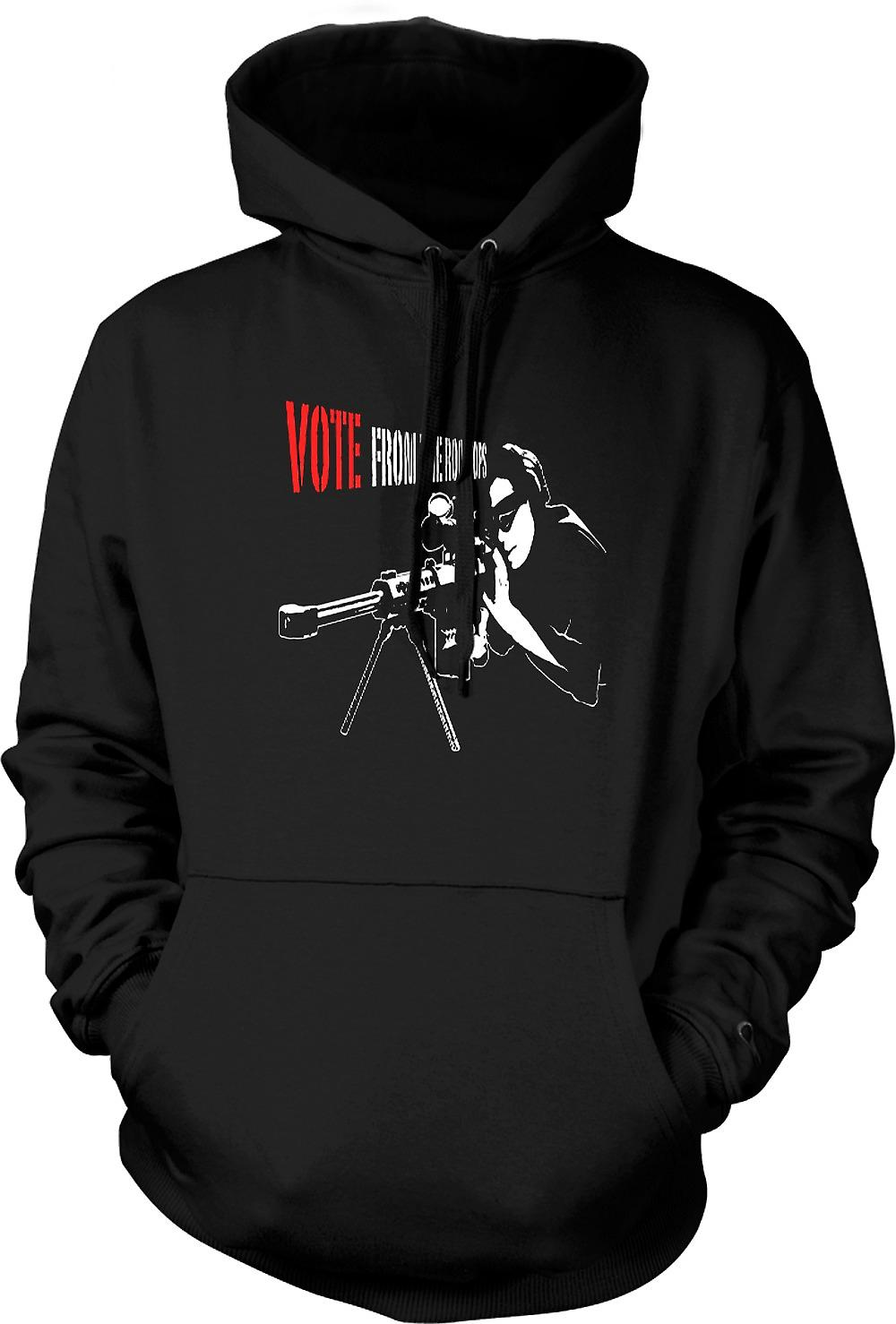 Mens Hoodie - Sniper - Vote From The Rooftop