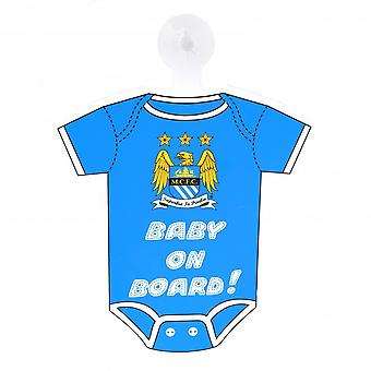 Manchester City FC Official Baby On Board Sign