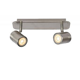 Lucide Lennert moderno Metal cromado acetinado teto Spot de luz