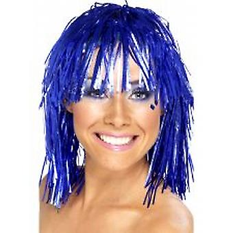 Cyber Tinsel Wigs Blue