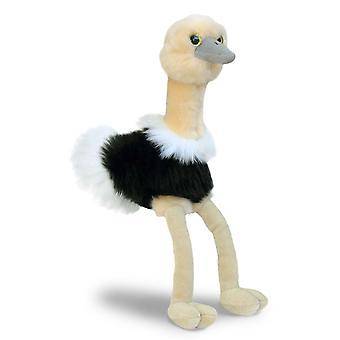 Aurora Mini Flopsies - Ozzi Ostrich Soft Toy 20cm