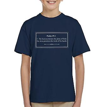 Religious Quotes The Heavens Declare The Glory Of God Kid's T-Shirt