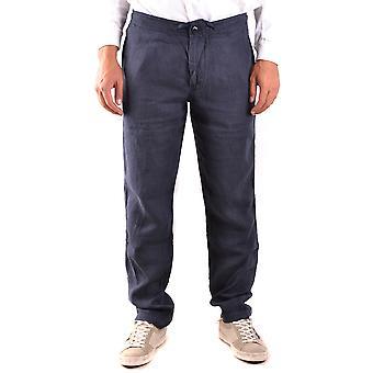Stone Island Blue Linen Pants