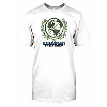 Illuminaten Front Group - Verschwörung-Herren-T-Shirt