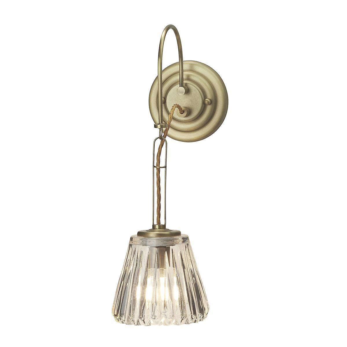 Elstead - 1 Light Wall Light - Brushed Brass - BATH DEMELZA BB