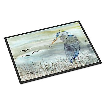 Carolines Treasures  SC2007MAT Blue Heron Watercolor Indoor or Outdoor Mat 18x27