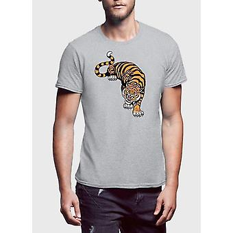 Cornered tiger printed t-shirt