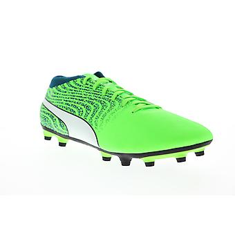 Puma One 18.4 FG 10455604 Mens Green Low Top Athletic Soccer Cleats Shoes