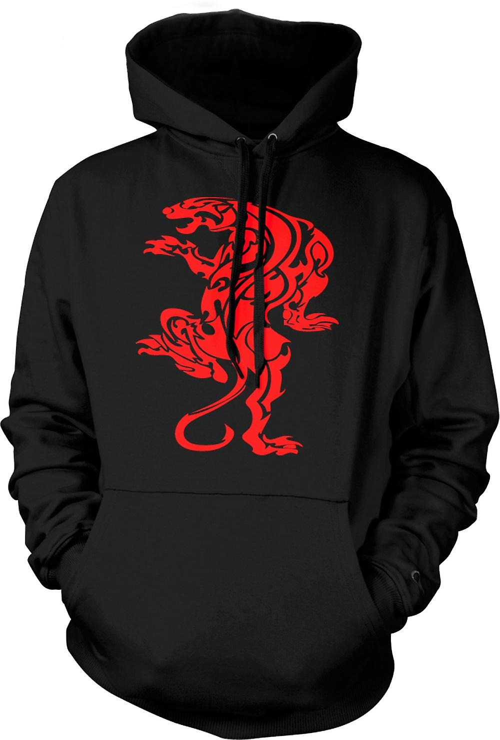 Mens Hoodie - tigre Tribal Art Design