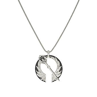 Outlander Thistle Open Circle under i Sterling Silver