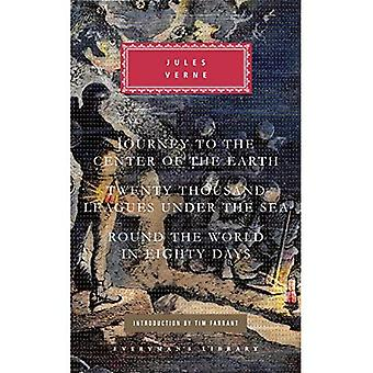 Journey to the Center of the Earth/Twenty Thousand Leagues Under the Sea/Round the World in Eighty Days (Everyman's...