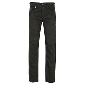 True Religion Ricky Flap Super T Camo Relaxed Straight Jeans