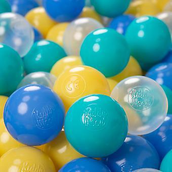 Kiddymoon zachte kunststof spelen ballen ∅ 6Cm/2,36 Multi kleur gecertificeerd gemaakt in de EU