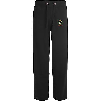 Army Air Corps Veteran - Licensed British Army Embroidered Open Hem Sweatpants / Jogging Bottoms